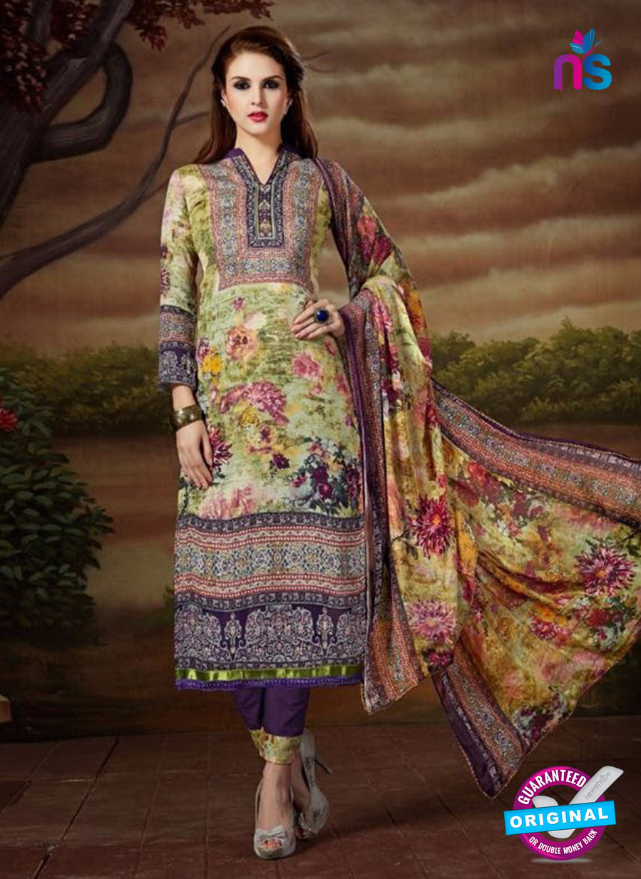SC 13895 Green and Multicolor Glace Cotton Latest Designer Fancy Straight Suit