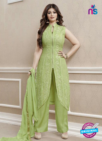 AZ 3324 Green Faux Georgette Fancy Designer Pakistani Suit
