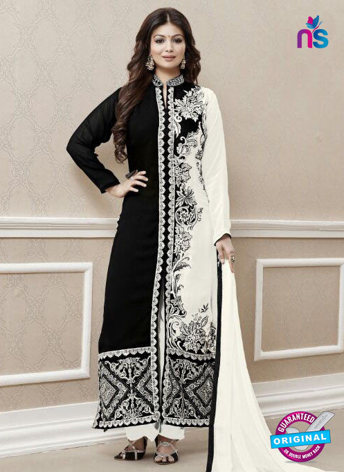 Roles 31004 Black and White Faux Georgette Fancy Designer Pakistani Suit