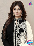 Roles 31004 Black and White Faux Georgette Fancy Designer Pakistani suit online