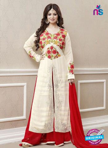 AZ 3326 White and Red  Faux Georgette Fancy Designer Pakistani Suit