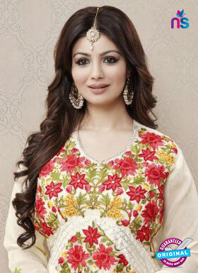 AZ 3326 White and Red  Faux Georgette Fancy Designer Pakistani Suit - Salwar Suits - NEW SHOP