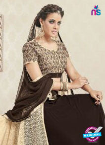 AZ 3328 Brown and Beige Faux Georgette Fancy Designer Indo Western Suit - Salwar Suits - NEW SHOP