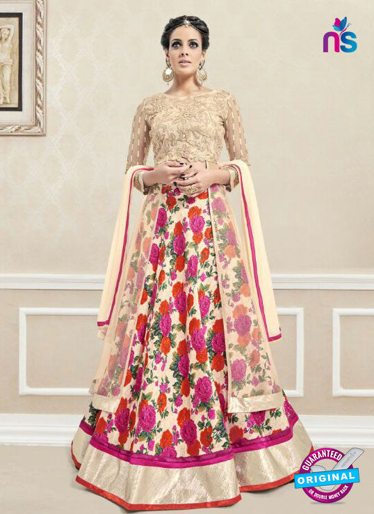 AZ 3329 Peach Faux Georgette Fancy Designer Lehenga