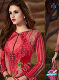 SC 13900 Red Glace Cotton Latest Designer Fancy Straight Suit