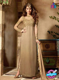 Maskeen 3102 Beige and Brown Designer Embroidered Georgette Party Wear Fancy Suit