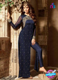 Maskeen 3103 Blue Georgette Party Wear Suit