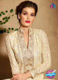 Maskeen 3106 Beige Designer Embroidered Net Party Wear Fancy Suit