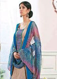 Ganga 3130 Blue & Beige Color Cotton Designer Suit