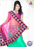 NS12268 Pink and Sea Green Designer Saree
