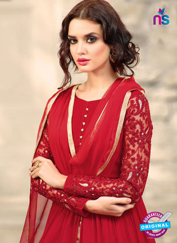 Mohini 32001 Red Georgette Plazo Suit