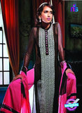 Ganga 3201 Black and Pink Color Georgette Designer Straight Suit