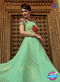 Kimora 3201 SeaGreen and Red Color Net Anarkali Suit