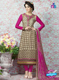 AZ 2324 Brown and Pink Crepe Fancy Pakistani Suit