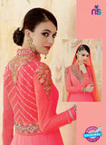 Kimora 3203 Peach and Orange Color Georgette Anarkali Suit