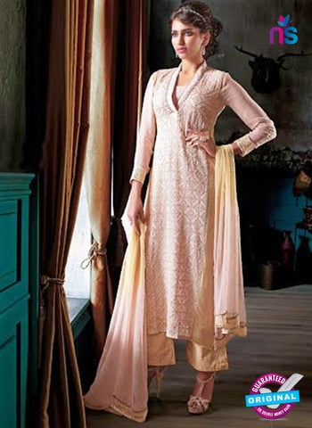 Ganga 3203 Beige Color Georgette Designer Straight Suit