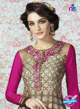 AZ 2324 Brown and Pink Crepe Fancy Pakistani Suit Online