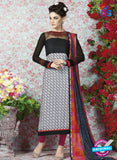 AZ 2325 Black and White Crepe Fancy Pakistani Suit