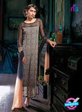 Ganga 3204 Black and Beige Color Georgette Designer Straight Suit
