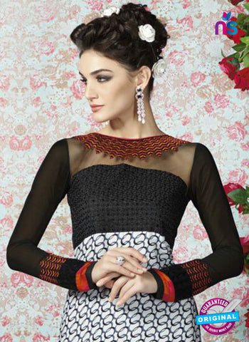 AZ 2325 Black and White Crepe Fancy Pakistani Suit Online