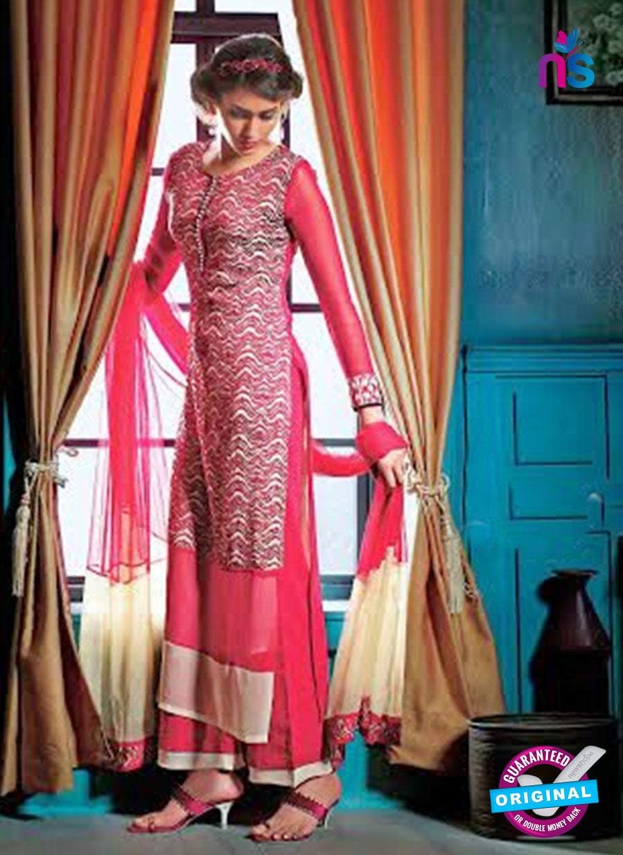 Ganga 3205 Red and Beige Color Georgette Designer Straight Suit