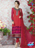 AZ 2327 Red and Pink Crepe Fancy Pakistani Suit
