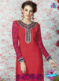 AZ 2327 Red and Pink Crepe Fancy Pakistani Suit Online