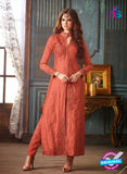 Maskeen 3207 Peach Banarasi Silk Party Wear Suit
