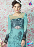 AZ 2329 Sky Blue and Grey Crepe Fancy Pakistani Suit Online