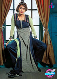 Ganga 3209 Blue and Green Color Georgette Designer Straight Suit