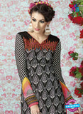 AZ 2331 Black and Pink Crepe Fancy Pakistani Suit Online