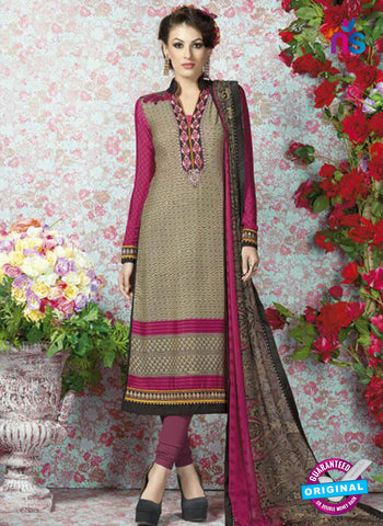 AZ 2332 Beige and Pink Crepe Fancy Pakistani Suit