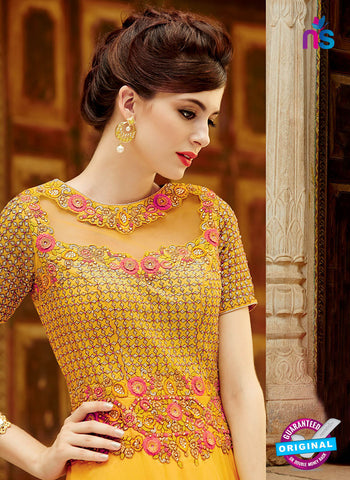 kimora 3211 Yellow and Pink Color Chiffon Anarkali Suit/Gawn