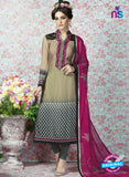 AZ 2334 Beige and Grey Crepe Fancy Pakistani Suit
