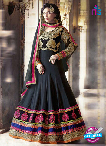 SC 13700 Black Designer Fancy Wedding Wear Exclusive Fancy Straight Anarkali Suit