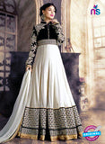 SC 13701 Black and White Designer Fancy Wedding Wear Exclusive Fancy Straight Anarkali Suit