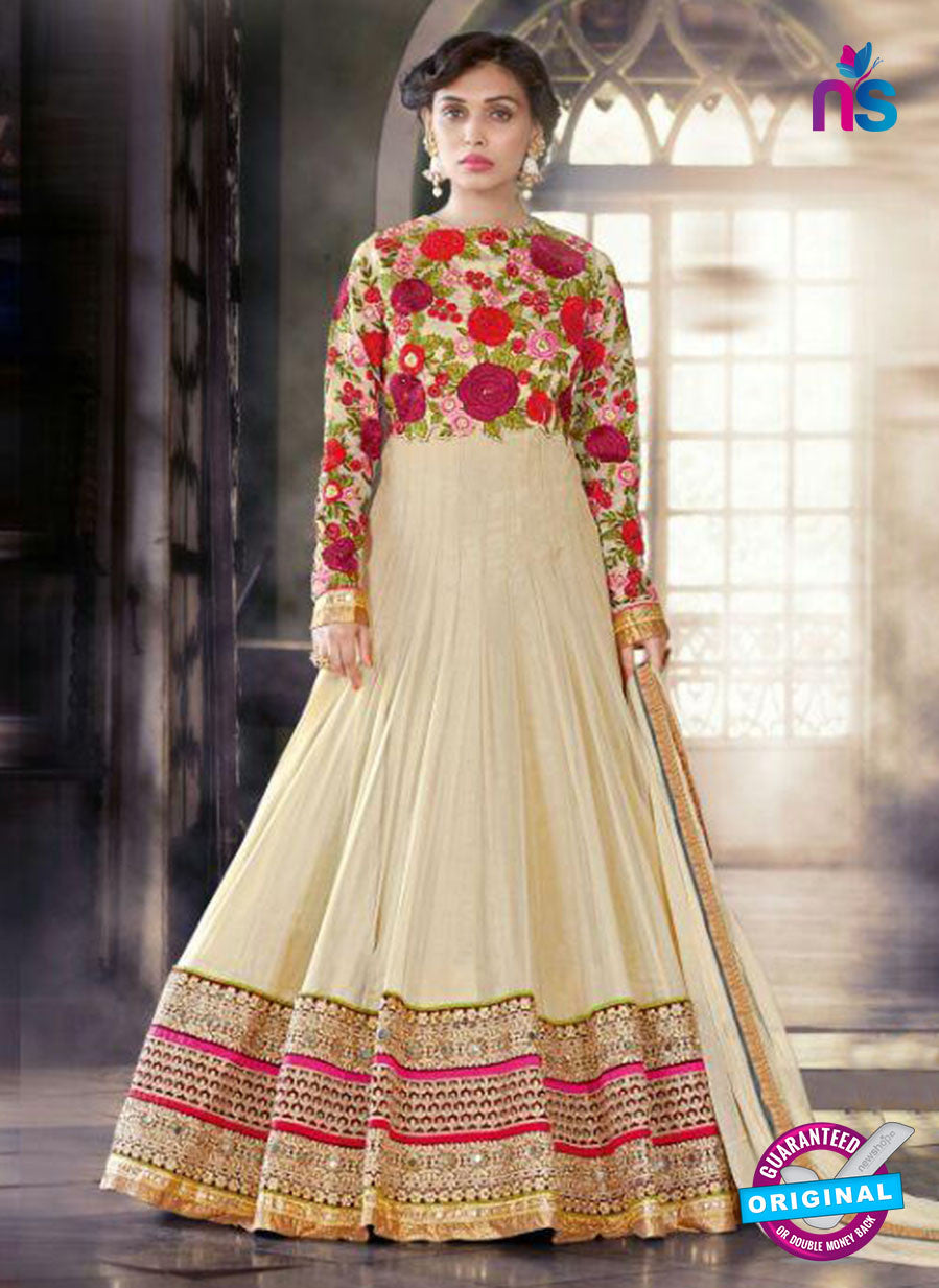 SC 13698 Beige Designer Fancy Wedding Wear Exclusive Fancy Straight Anarkali Suit