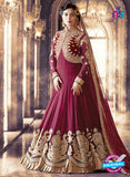 SC 13703 Maroon Designer Fancy Wedding Wear Exclusive Fancy Straight Anarkali Suit