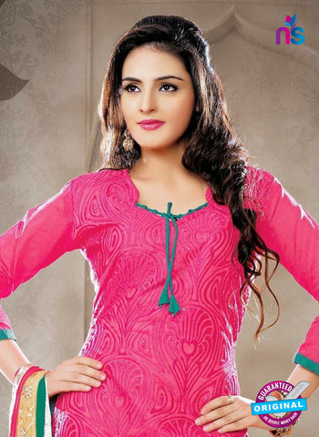 NS12269 Pink and Green Chudidar Suit
