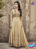 SC 12296 Brown Embroidered Semi Georgette Party Wear Anarkali Suit