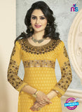 SC 12654 Yellow Georgette Straight Suit Online
