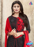 SC 12294 Black and Red Embroidered Semi Georgette Party Wear Designer Suit