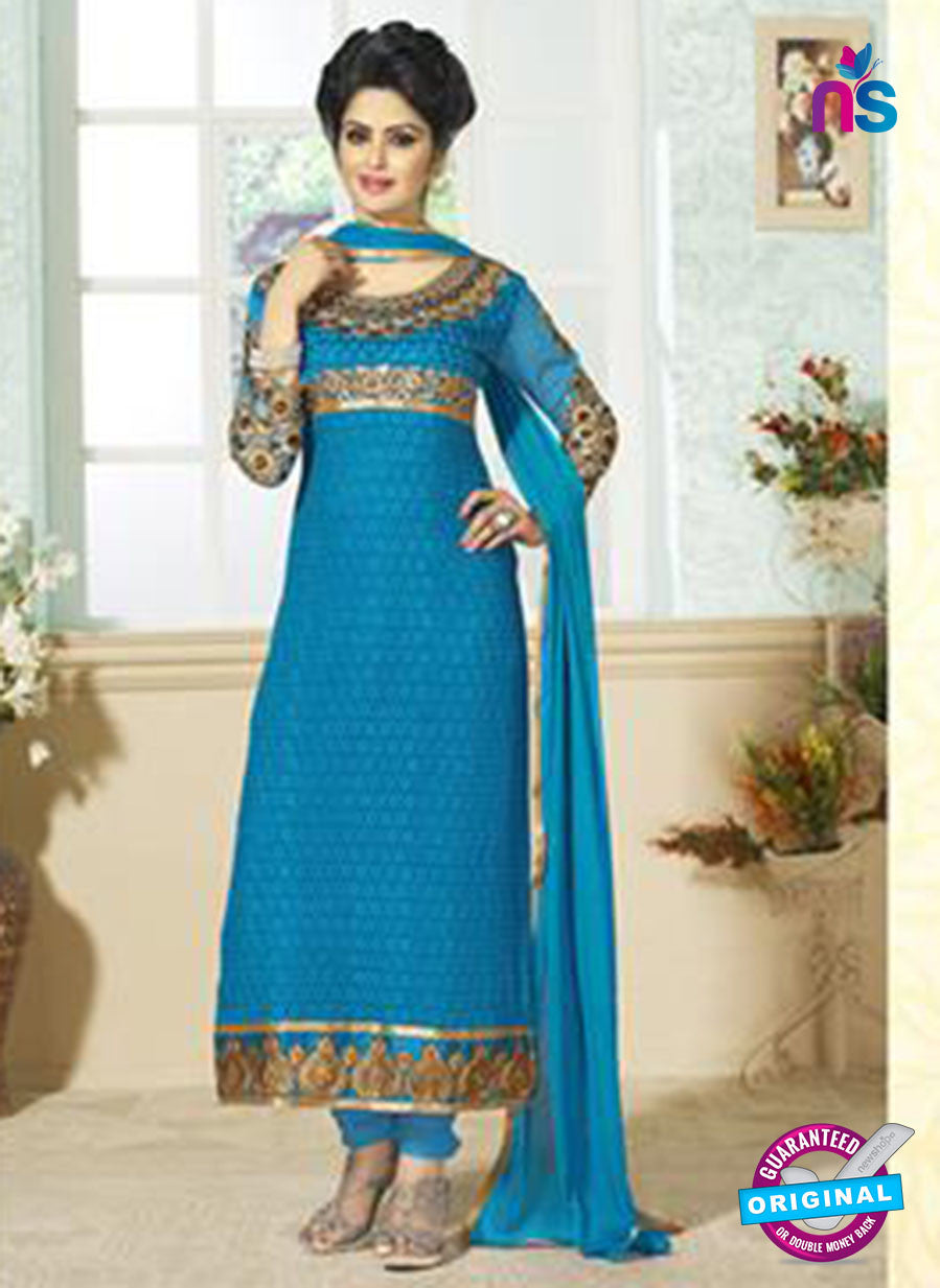 SC 12655 Blue Georgette Straight Suit