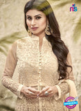 SC 12295 Beige Embroidered Semi Georgette Party Wear Anarkali Suit