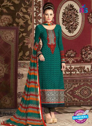 AZ 3669 Sea Green Crepe Pakistani Suit
