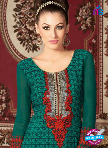 AZ 3669 Sea Green Crepe Pakistani Suit Online