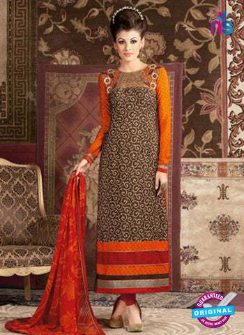 AZ 3670 Brown Crepe Pakistani Suit