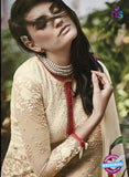 NS10318 Beige Party Wear Faux Georgette or Net Designer Straight Suit Online