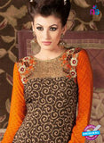 AZ 3670 Brown Crepe Pakistani Suit Online