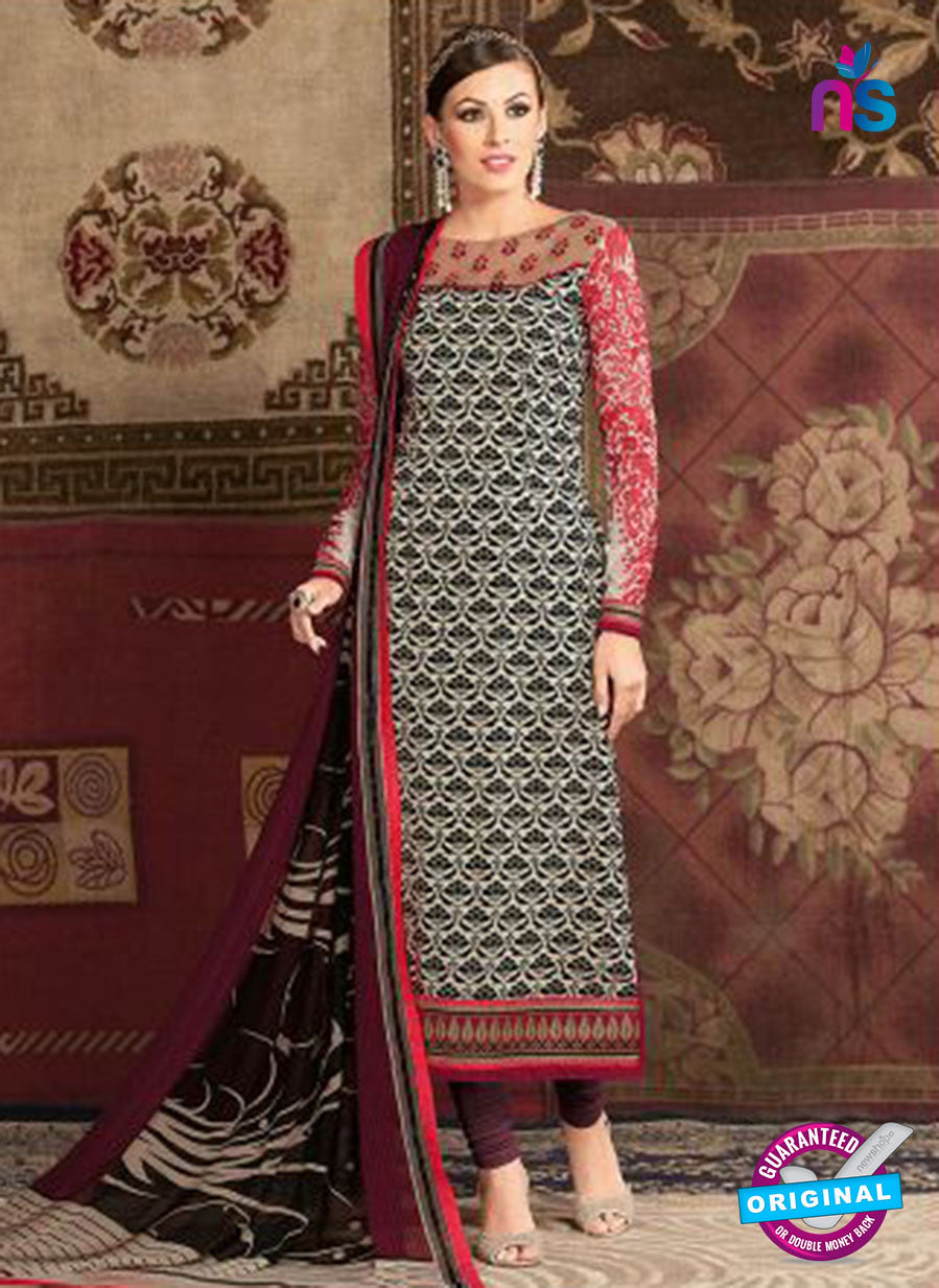AZ 3673 Black Crepe Pakistani Suit